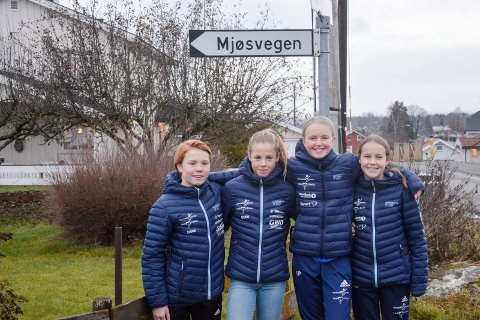 Fra venstre: Sara Hoelstad, Siri Knutsen, Ida Pedersen og Meline Mosether