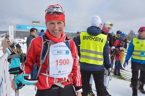 Nummer 2: Kari Lier fra Ring ante lite om at hun ble nummer to i sin klasse.
