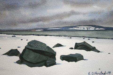 UTSTILLING PÅ FRAMHEIM: Ernst Harstad viser utstillinga «En vandring – slik jeg så det», hver dag fram til 7. april.