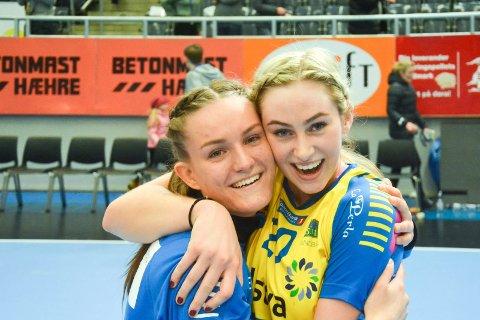 Lokale jenter: Anna Mortvedt og Mia Svele