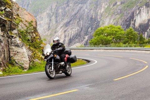 UTSATT: Ifølge Trygg Trafikk er motorsyklister blant de mest utsatte i trafikken.