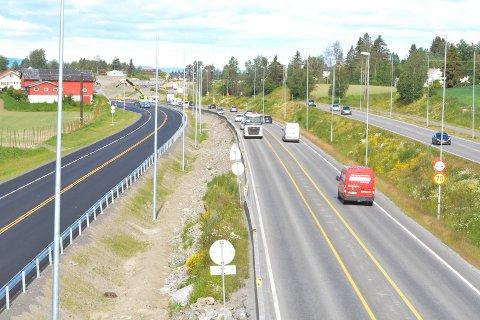 Klar: Fra onsdag går trafikken på nybygd E6 mellom Nydal og Bergshøgda.