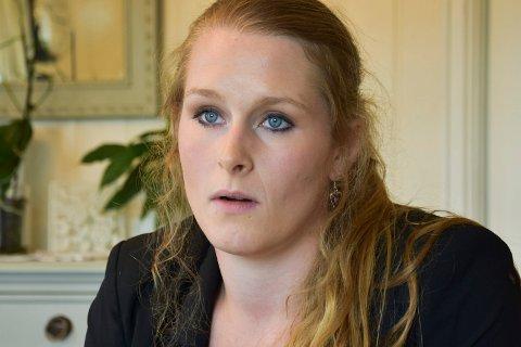 TUNG TID: 2016 ble et tungt år for Katrine Jakobsen Solberg (26). Nå håper hun på suksess som Ringsaklistas toppkandidat før valget i september.
