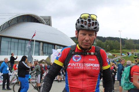 Ikke fornøyd: Trond Opsal fra Brumunddal sykkelklubb har deltatt i Birkebeinerrittet sju ganger men har aldri tatt merket. Heller ikke lørdag gikk det hans vei.