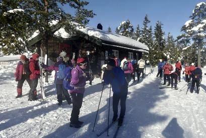 Onsdagsgruppa: i HHT går skitur fra Vollkoia hver onsdag klokka 10.30.
