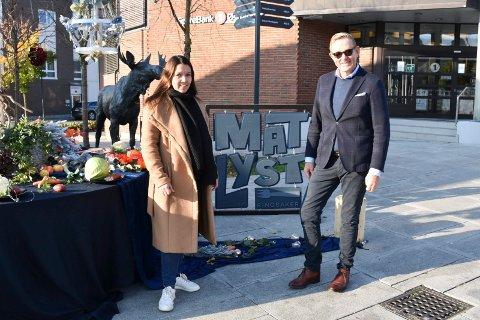 Matlyst-arrangører: Monica Østenheden og Tor Rullestad fra Ringsaker kommune fra et pressemøte i forkant av Matlyst.