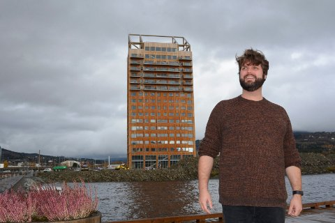 På plass: Markus Petterson fra Gøteborg er klar for å levere i Ringsaker.
