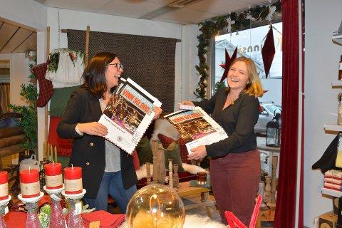 Lokker: Lene Bergo og Lene Jægersrborg gleder seg til å ta imot kunder på julehandel.