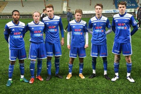 Juniorer på seniorlaget: Fra venstre: Mahad Abdi Abdulsji, Jonas Jensbak Nysæter, Christian Høgset, Eivind Strand Osmo og Håkon Byøygard Kvernvolden.