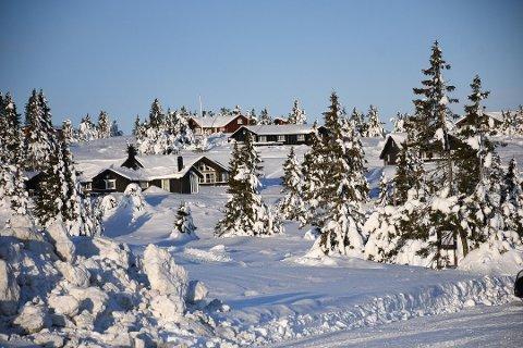 HYTTEJUL: Slik situasjonen i landet ser ut nå, kan man feire jul på hytta i Ringsaker kommune.