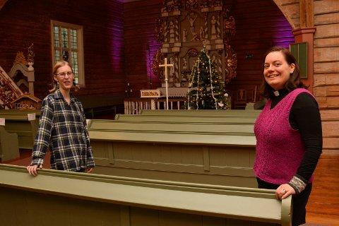 gleder seg til jul: Det blir annerledes men gudstjenester blir det melder sokneprestene i Brøttum og Ringsaker kirke. Johanne Gram-Nilsen (t.v) og Marta Axner Ims.