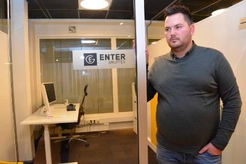 I TRØBBEL: Stian Grønbakken i Enter Gruppen beklager situasjonen som kan ende med konkurs.