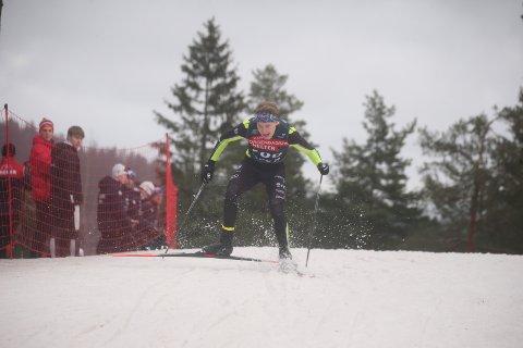 Dårlig skivalg: Jonas Vika traff ikke med skivalget under lørdagens sprint i Norgescup junior M19-20. Dermed klarte han ikke å følge opp den fantastiske 2. plassen lørdag.