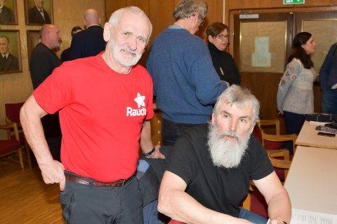 MED I STYRET: Arnulf Hustad (t.v.) og Terje Jektvik (leder) i Ringsaker Rødt.