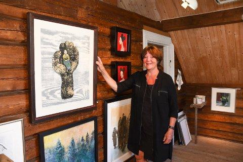 Galleriveteran: Eivor Oswold Bjørnstad har drevet kunstgalleri i Moelv i 37 år.