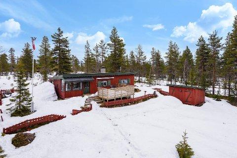 Denne hytta på Hammarseterhøgda er blant fritidsboligene i Ringsaker som er ute til salgs med en prisantydning på under en million kroner.