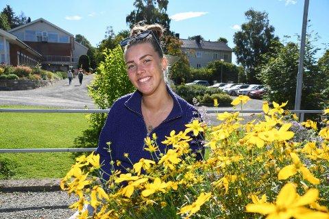Ny tilværelse: Tina Marie Haugen er en av rekordmange studenter på Vea. 27-åringen utdanner seg som blomsterdekoratør.