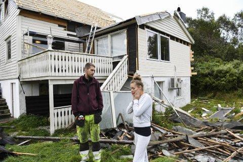 MARERITT: Huset på Lindås har blitt et mareritt for Desirée Wang Degado og samboeren Tommy Vabø.