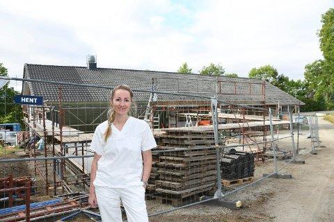 Fornøyd: Fastlege Ida Røhr gleder seg over at arbeidet med Nes legesenter har startet.