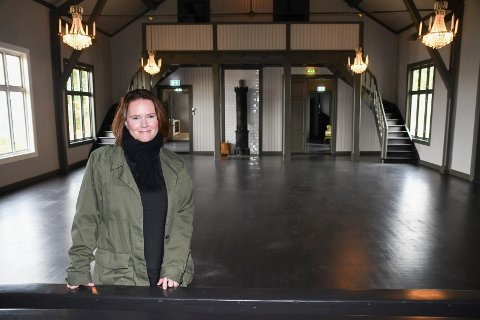 Fornøyd: Monica Berg er strålende fornøyd med resultatet av oppussingen på Borgen.