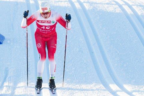 GOD FART: Jonas Vika i løypa på 30 km fellesstart under norgescupen på Lygna.