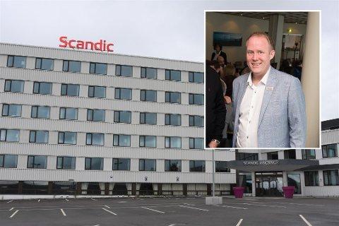 POSITIV: Hotelldirektør for Scandic Ringsaker, Frode Åkerland, er positiv til hotellets framtid etter pandemien.