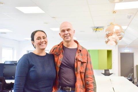 SATSER PÅ KVINNER: Sara Mahdavi og Bjørn Einar Rakstang skal hjelpe sårbare kvinner ved hjelp av sosialt entreprenørskap.