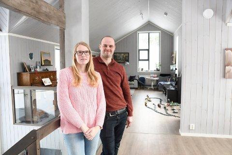 Fant kjærligheten: Ola og Linn Therese Sortåsløkken stortrives i sitt store og flotte bolighus i Lismarka.