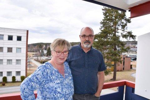 Flyttet: Jonny og Lise Kristin trives godt på Hamar.