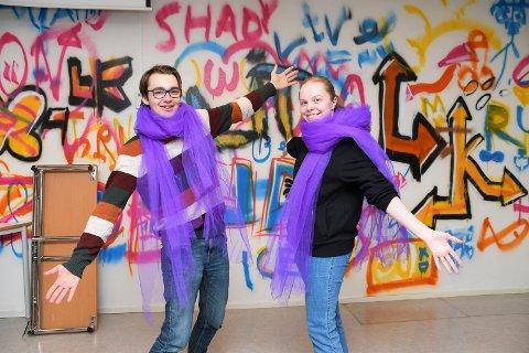 Starter på ny linje: Norges første drag-linje blir en realitet ved Arbeiderbevegelsens Folkehøgskole. Amandus Furuvold og Mathilde Olsen er to av elevene som skal begynne.