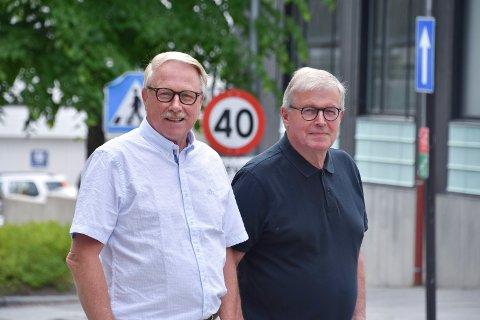 VIKTIG VEDTAK FOR BYEN: Erik Slaatsveen (t.v.) og Svein Kåre Bakken har mange tanker om Moelvs framtid og mulighetene som byr seg etter sykehusvedtaket.