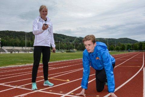 Klar: Håvard Bentdal Ingvaldsen har opplevd en fantastisk sesong med moren Mari Ann Bentdal som trener.