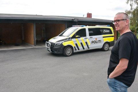 INNBRUDD: En eller flere personer gjorde innbrudd hos Tommy Landmark-Skoglund i Moelv i helgen.