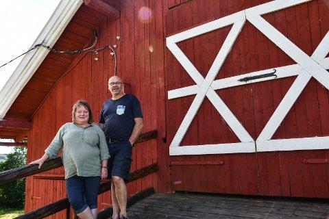 Mye arbeid: Gunhild og Kåre har satt i gang et arbeid som koster mye tid og penger.