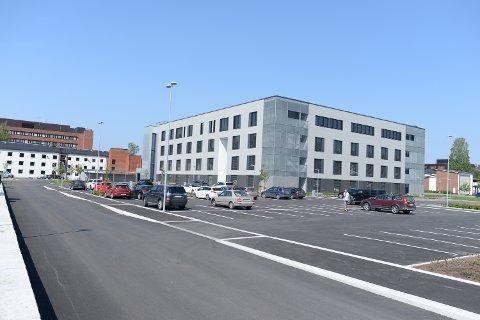 BRANT: I 2018 brant det i Helsehuset i Elverum, da bygget var under oppføring.