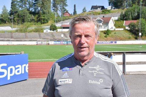 DAGLIG LEDER: Bjørn Nybu i Brumunddal Fotball på Sveum fredag. 25. juli kommer HamKam på besøk til cupdyst.