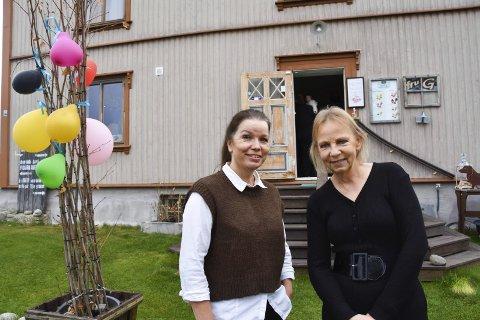 HAR INNGÅTT SAMARBEID: Kjersti Stubberud Rønning (t.v.) og Vivi-Ann Bagron Gjersing. Se flere bilder fra «nyåpningen» i bildekarusellen.