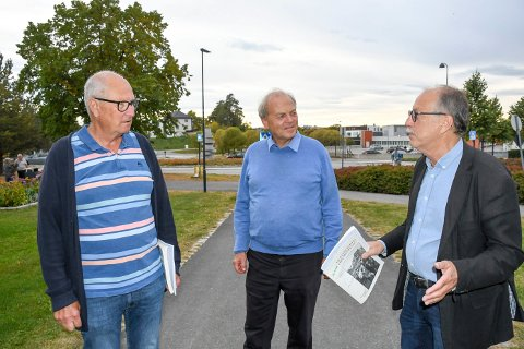 JOBBET TETT: Yngve Carlsson, Tore Bjørgo og Roy Carstens jobbet tett sammen rundt Aksjonsplan Brumunddal fra 1992.