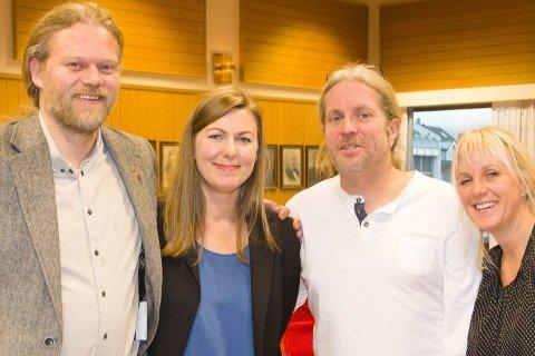 Are Granheim (Frp), Miriam Tessem Strøm (MDG), Bård Brørby (SV) og Anne Paulsen (SV) er fornøyde med at et flertall i formannskapet sa nei til bompenger på lokale veier. Trolig blir utfallet annerledes i kommunestyret.