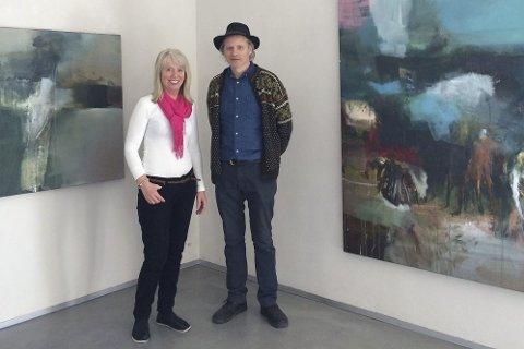 Elenor Martinsen  og Bjørnulf Dyrud i Hole Artcenter.