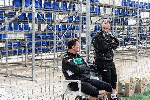 HBKs sportssjef Rolf-Magne Walstad (t.h.) og trener Rune Skarsfjord stiller til nettmøte torsdag klokken 18, sammen med Morten Woldsdal og Knut Kjær Berntsen.
