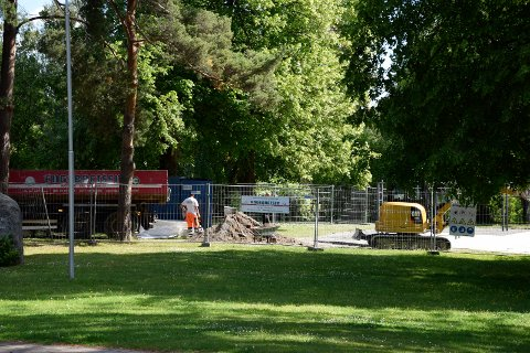 Tufteparken i Søndre park er åpen døgnet rundt etter at den er ferdig.