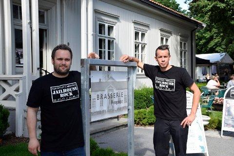 Morten Skinstad Haakenstad og Thomas Haugseth på Brasserie Fengselet.