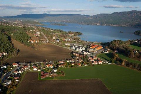 Flyfoto over Vik.