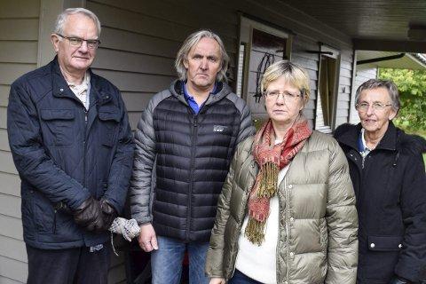 Bjørn Engen, Steinar Hagen,  Dagrun H. Nilsen og Bjørg Hagen har frontet protestene mot bosettingen av de enslige mindreårige flyktningene.
