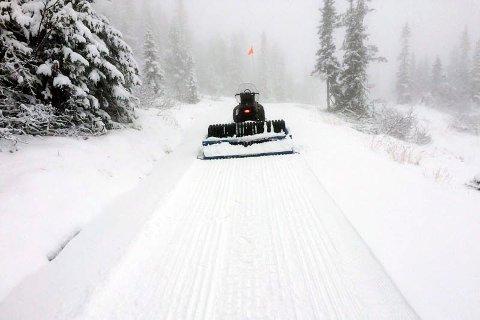 Vil du gå på ski?: Skiløyper på Norefjell allerede 24. oktober.