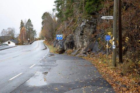 Utstranda skal få veibelysning, her ved Utøya.