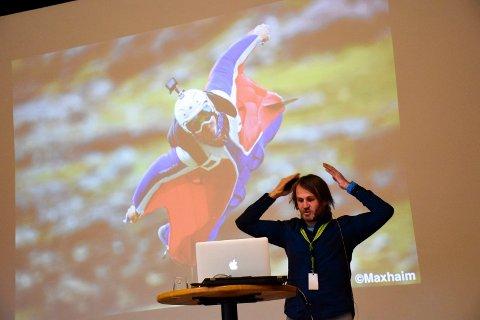 Ekstremsportutøver Tom Erik Heimen gjestet Gründerkonferansen 2016 på Klækken hotell.