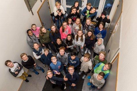 Klasse 7 a og b ved Ullerål skole har skrevet kapittel 3.