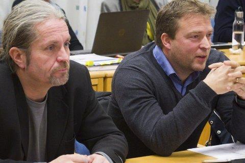 Bård Brørby (SV) og Tommy Lafton (SV) er betenkt over at Europris ikke kommer til Nesbakken.